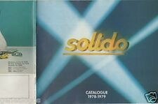 CATALOGUE SOLIDO 1978-1979 COMPETITION TOURISME TONERGAM MILITAIRE AGE D'OR f