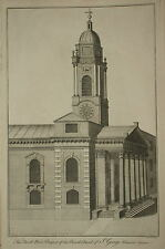 LONDON. NORTH WEST PROSPECT OF THE PARISH CHURCH OF ST GEORGE HANOVER SQUARE..