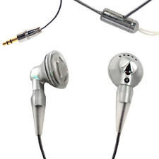 Silver Earphones with Lanyard Gym Sports Jogging Mp3 iPod, Smart Phone