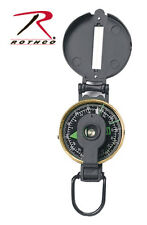 Rothco 399 Black Metal Lensatic Luminous Dial Compass