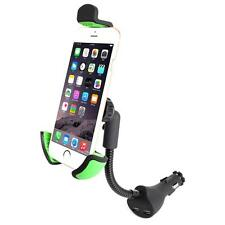 Car Smartphone Mount Rotable Holder with Dual USB Ports Phone Car Charger