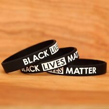 20 Black Lives Matter Wristbands - Silicone Awareness Wrist Band Bracelets