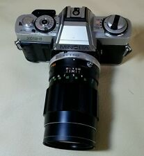 MINOLTA XG-1 35MM VINTAGE FILM CAMERA WITH LENS f=135mm /1:3.5 LENS GOOD CONDITI