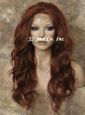 Iron oK HEAT SAFE Lace Front WIG Copper Red Wig Futura Fiber WBYV 130