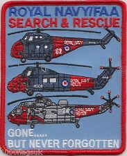 Search and Rescue FAA Royal Air Force Gone But Not Embroidered Badge Patch