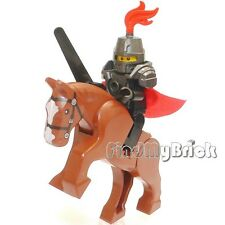 C804 Lego Hero Knight Minifigure with Heavy Armor Weapon & Battle Horse NEW