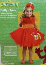 Halloween Sesame Street Red Frilly Elmo Dress Costume & headband Size 2T NWT