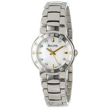 Bulova 96R173 Women's Diamond Mother of Pearl Dial Stainless Steel Watch