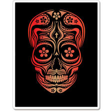 "Sugar Skull Dia de los Muertos Mexico car bumper sticker decal 5"" x 4"""