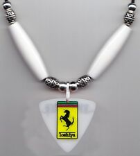 Dir en grey Toshiya Bass Guitar Pick Necklace - White Beads