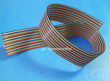 0.5m 3.3ft 40 Way 40 pin Flat Color Rainbow Ribbon IDC Cable Wire Rainbow Cable