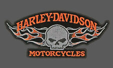 HARLEY DAVIDSON Willie G Skull Flames 5 INCH HARLEY PATCH
