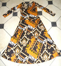 HIPPIE DELUXE REAL VINTAGE 70ies long Dress Pucciesque Leonard Print