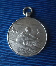 Vintage Sterling Silver Rowing / Sculling Medal 1929 & 1930 MRAA  -  S. Fleming
