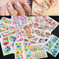50pz Nail Art Water Transfer Fiore Stickers Decal Adesivi Manicure Unghie DIY