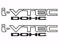 Honda I-Vtech DOHC Decal Stickers Set of 2 Civic Accord Prelude CRX SI Black