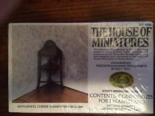 1/12 HEPPLEWHITE CORNER WASHSTAND KIT #40056 HOUSE OF MINIATURES NEW FACT SEAL