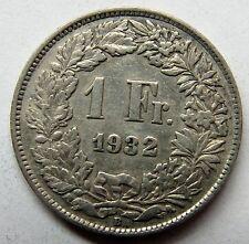 Très belle monnaie - SUISSE - 1 Franc - 1932 -