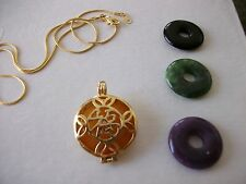 INTERCHANGEABLE JADE PENDANT NECKLACE