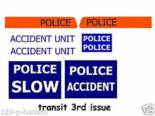 DINKY FORD TRANSIT POLICE REPLACEMENT STICKER SET 3RD ISSUE