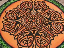 Celtic Knot Tapestry Cotton Flat Bed Sheet Mandala Decor India Home Textile
