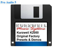 Kurzweil K2000 Original factory Presets and Demos Floppy Disk