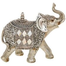 NEW Silver Pearl Elephant Large 20cm Statue Ornament Figurine