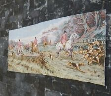Vintage French Hunting Scene Tapestry 150x69cm (A846)