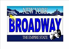 Novelty Number Plate, Broadway Fun American New York Licence Plate 1 Love NYC