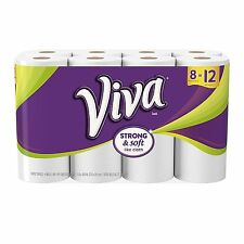 Viva Giant Roll Paper Towels, White, 8 Rolls