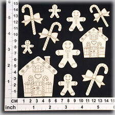 Chipboard Embellishments for Scrapbooking, Cardmaking - Christmas Shapes 15145