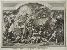 FRANCHE COMTE GRAVURE 1750 MAGDELEINE HORTHEMELS LE BRUN LOUIS XIV BESANCON I79