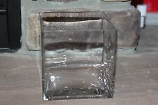 Multi-Purpose Square Glass Flower Vase Pillar Candle Holder