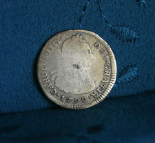 Peru 1 Real 1792 IJ Silver World Coin South America Lima RARE Peruana