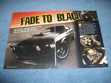 "1969 Ford Mustang Fastback RestoMod Article ""Fade to Black"" SportsRoof"