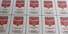 Complete set Andy Warhol Campbell's Soup Lithograph's Limited 3000 pcs.