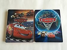 Disney Cars 1 & 2 Blu-Ray (3D+2D) Steelbook Embossed! OOS/OOP! Mint Condition!