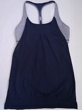 LULULEMON inkwell blue and gingham Practice Freely Tank size 10 WORN ONCE