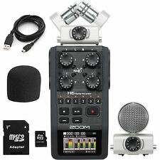 Zoom H6 Portable Handheld Recorder  Interchangeable Microphone System 2GB SD