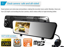 Full HD 1080P in Car CCTV DVR Accident Camera Video Recorder Rear-view Mirror