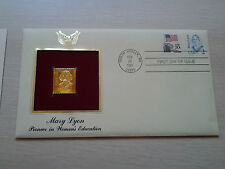 -Mary Lyon-----22Kt Golden Replica of United States Stamps