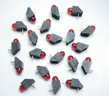 20 HO SCALE RED END OF TRACK BUMPER LEDS RIGHT ANGLE & FREE RESISTORS FOR 12 V