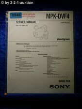 Sony Service Manual MPK DVF4 Marine Pack (#5948)