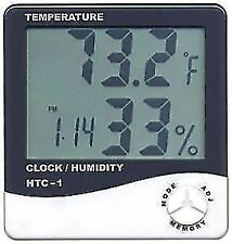HTC-1 LCD Display Digital Hygrometer Humidity Thermometer With Clock