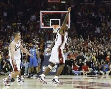LeBRON JAMES Game winning Shot Cleveland Cavaliers LICENSED un-signed 8x10 photo