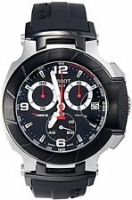 Tissot T-Race Black Dial Silicone Strap Men's Watch T0484172705700