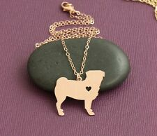 CUTE PUG GOLD PLATED PENDANT NECKLACE 18INCH GIFT BOXED.