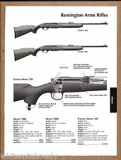 2004 REMINGTON Model 7400, 7600, 700 Etronix RIFLE AD w/specs & prices