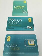 EE  superfast 4G prepay pay as you go SIM trio sim size - (buy 1 get 1 free)