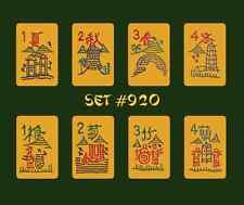Mah Jongg Jong Mahjong Joker Stickers - Set #920 ** Free Shipping **